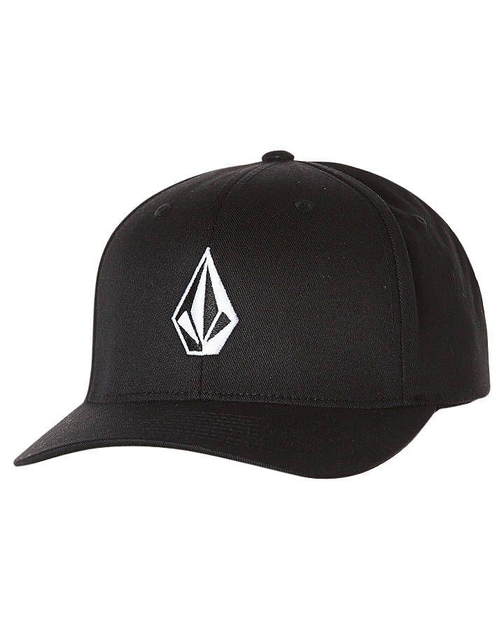 Volcom Full Stone Xfit Cap Black Cotton  1c291e7cffd6