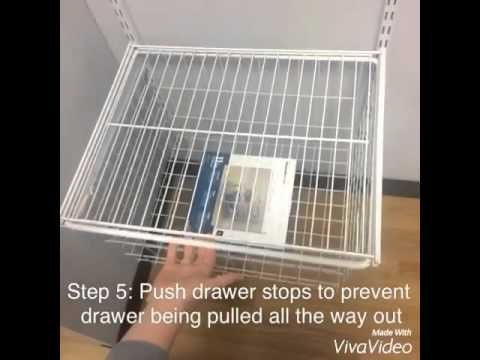 How To Add Closetmaid Shelftrack Drawers Youtube With Images Closetmaid My Home Design Hobby Storage
