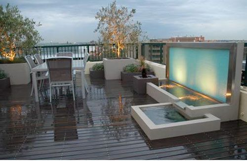 Architecture Modern Water Features Nice Design With Awesome
