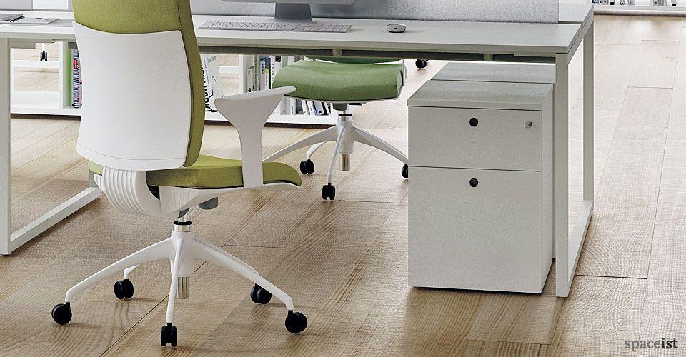White Office Storage Frame Under Desk Storage Under Desk Storage Office Storage Desk Storage