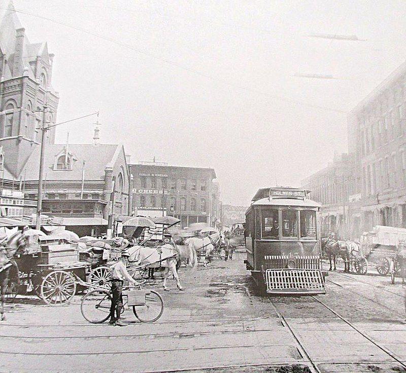 "City View Apartments North Kansas City Mo: K.C. Photo, Circa 1908. ""Main Street North From Twelfth"