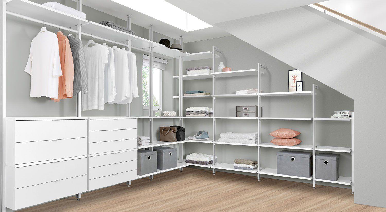 Begehbarer Kleiderschrank für Dachschräge und