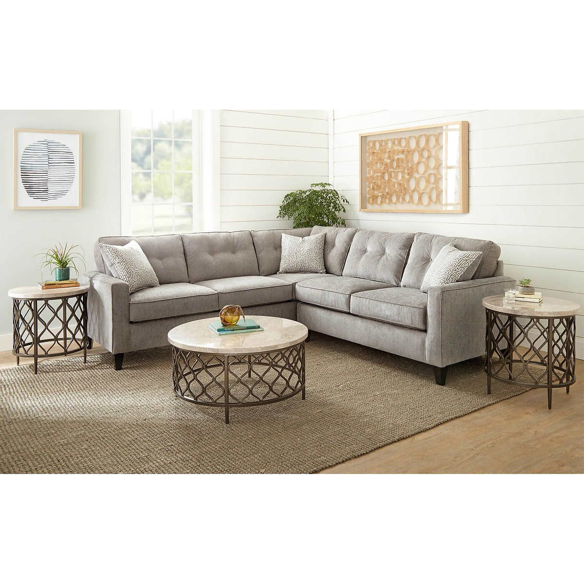 Madigan 2 piece Fabric Sectional dream home