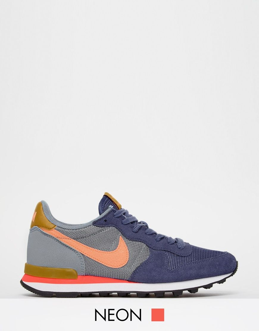 huge discount 7b982 d5700 Image 1 of Nike Internationalist Blue Legend Trainers