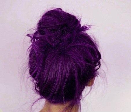 färga håret lila från rött