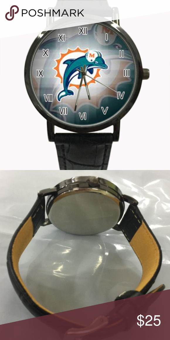 Watch Mens NFL Miami Dolphins Watches for men, Leather