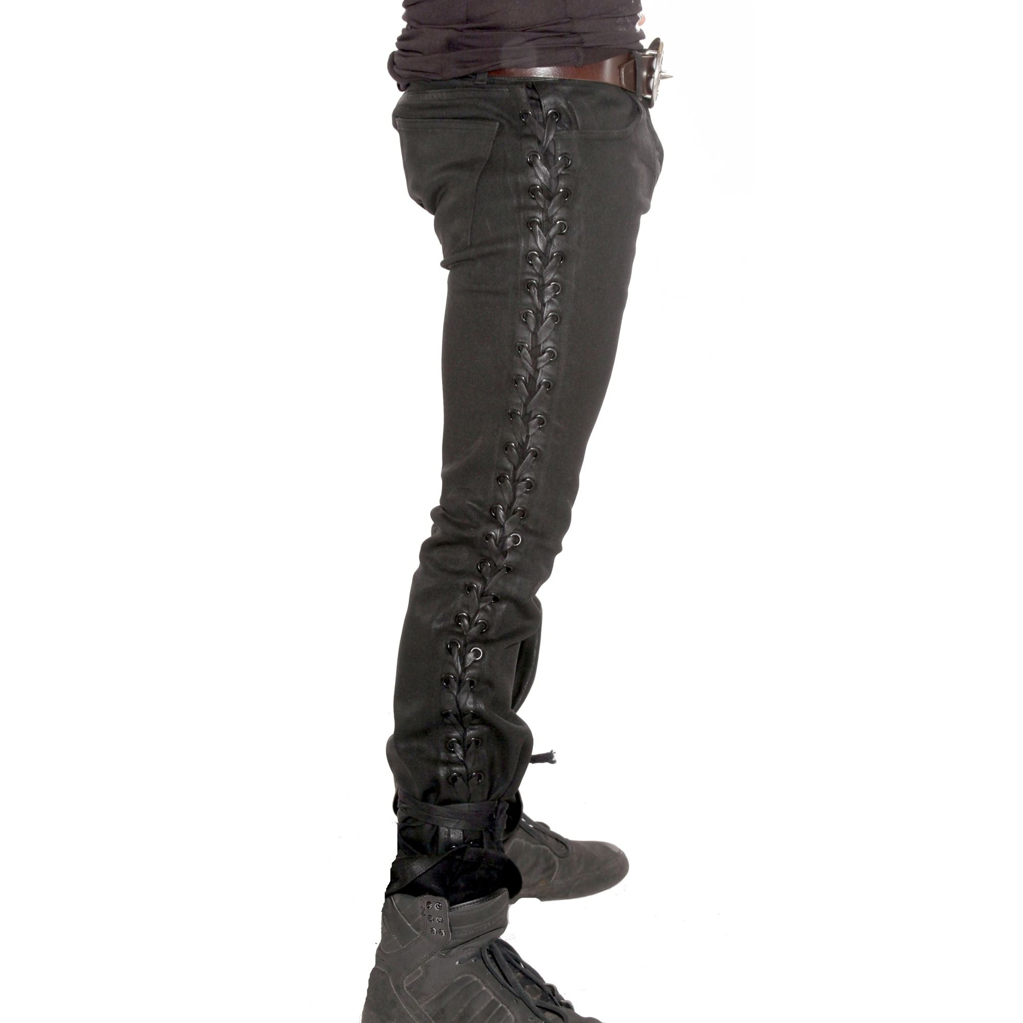 Lip Service Side Laced Black Jeans Slim Boot Cut | my style ...