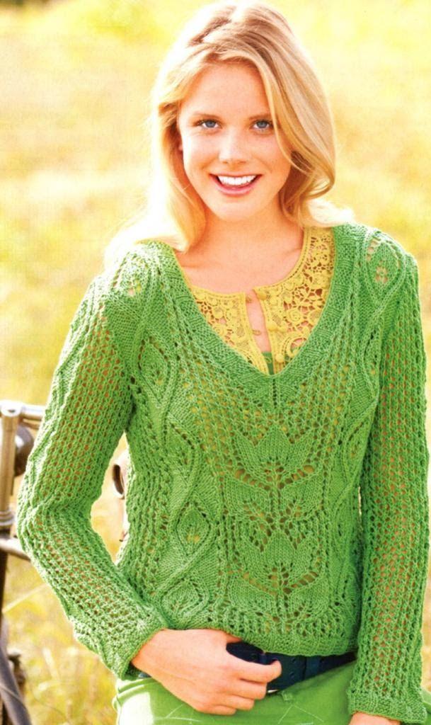 вязание спицами изумительные женские кофточки для лета вязание