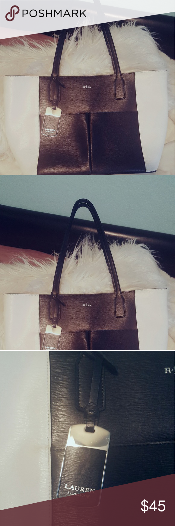 676bb53fb00 Ralph Lauren Purse Black and white and comes with a protective bag. Looks  brand new Ralph Lauren RRL Bags Totes