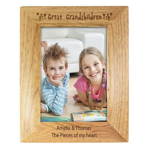 6x4 Great Grandchildren Wooden Photo Frame