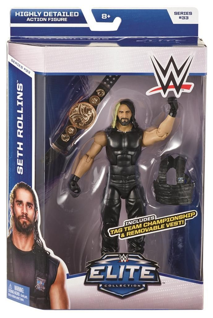 WWE ELITE Roman Reigns Série Mattel Wrestling Action Figure Shield WWF