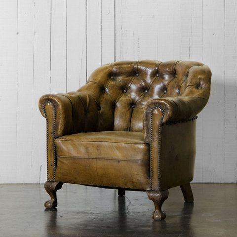 Tufted Leather Club Chair   Ralph Lauren Home