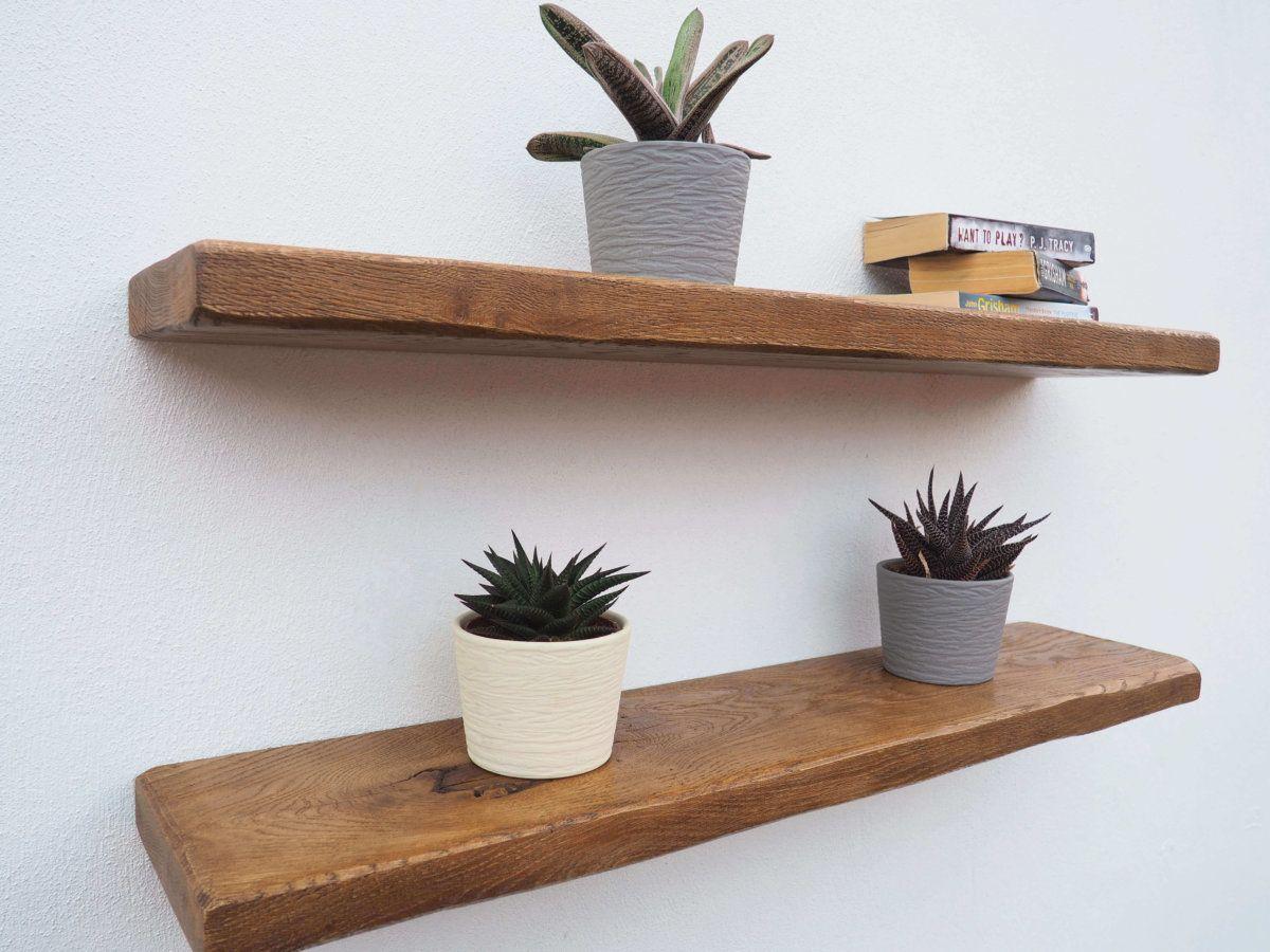 buy popular efae5 da843 1 for Rustic Shelves: Rustic Oak Floating Shelves | Floating ...