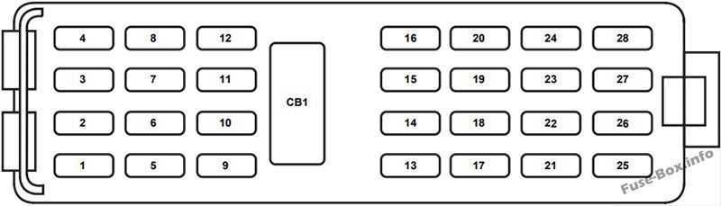 Instrument Panel Fuse Box Diagram Ford Explorer 2006 2007 2008 2009 2010 Ford Explorer Ford Electrical Fuse