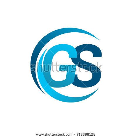 Initial Letter Gs Logotype Company Name Blue Circle And Swoosh Design Vector Logo For Business And Company Identity Initial Letters Lettering Initials