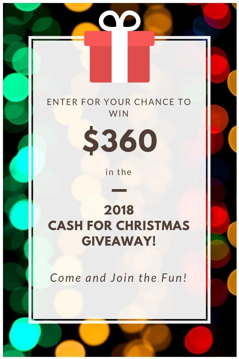 Cash for Christmas Giveaway 2018 | All things Christmas! | Pinterest ...