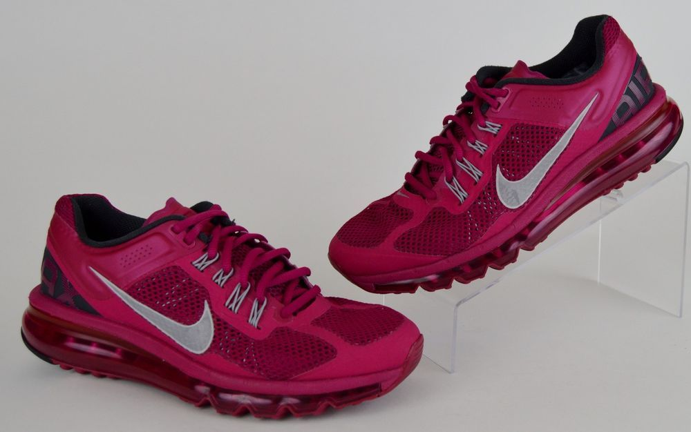 women's Nike Air Max Waffle Skin Fitsole 2012 pink lace up