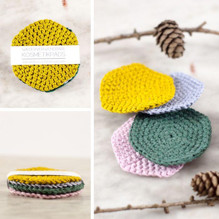 Gehäkelte Kosmetikpads zum Wiederverwenden für weniger Müll! #crochetdiy