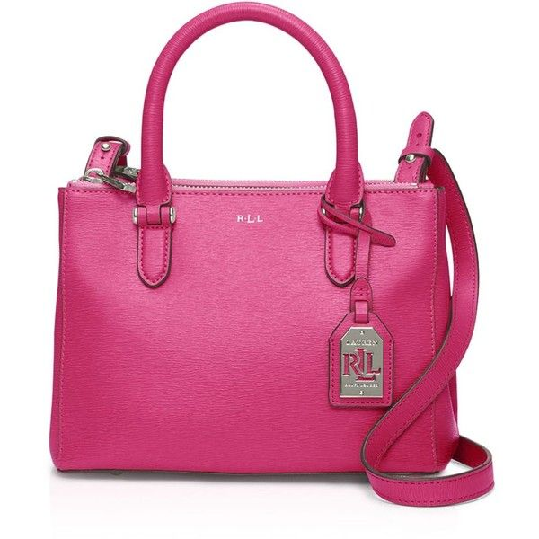 Lauren Ralph Lauren Mini Newbury Double Zip Satchel ($198) ❤ liked on  Polyvore featuring