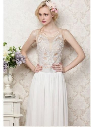 1920s Flapper Maxi Gatsby Dress Charleston Vintage Romantic Wedding ...