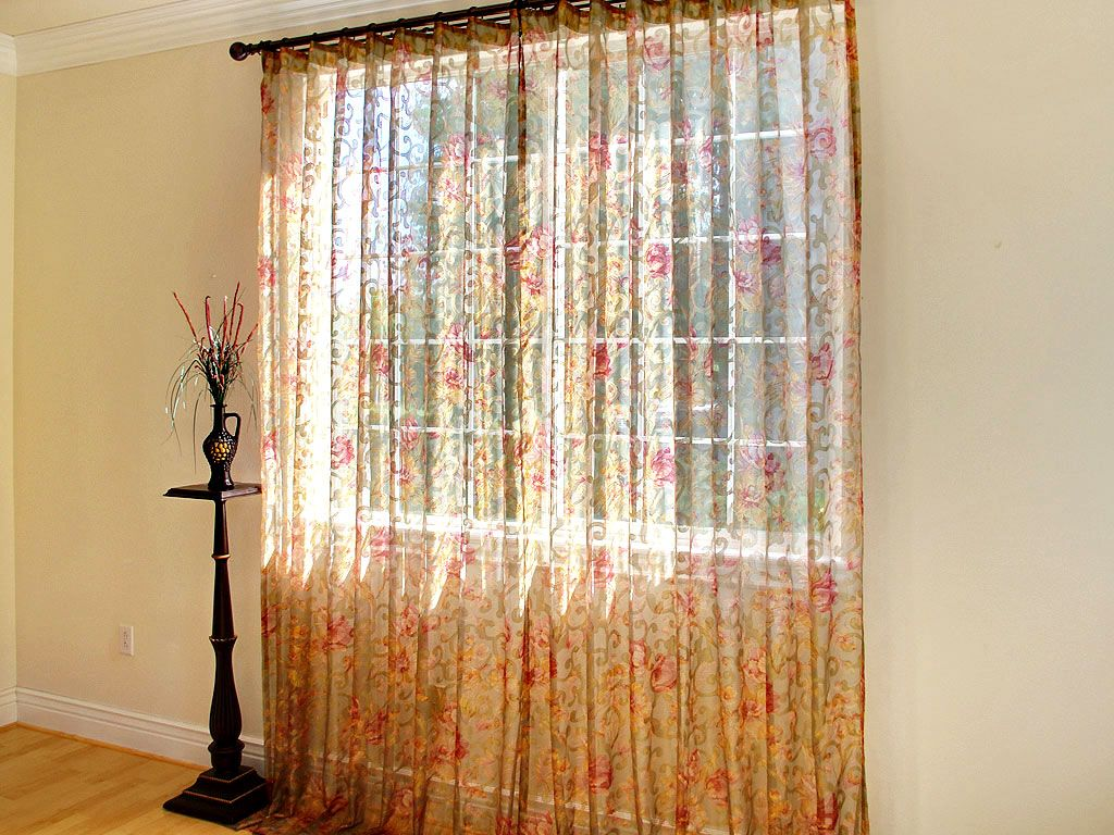 Celadon floral sheer curtain panel sheer curtain panels pinterest sheer curtains and sheer - Pictures of curtains ...
