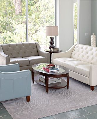 claudia living room furniture sets & pieces - furniture - macy's