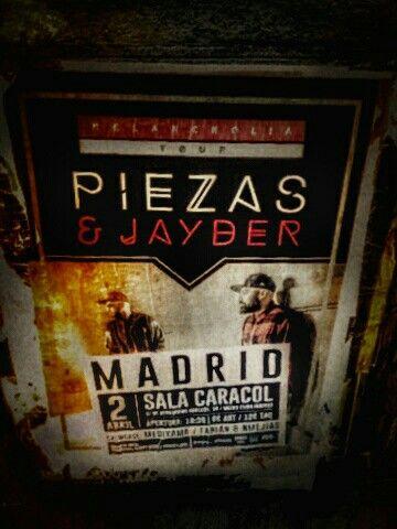 Sala Caracol en Madrid, PIEZAS E JAYBER