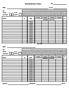 5 Basketball Score Sheet Templates Word Excel Templates Excel Templates Templates Scores