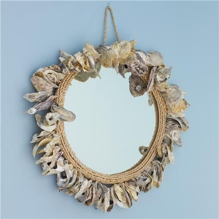 Oyster Shell & Rope Mirror - Shades of Light