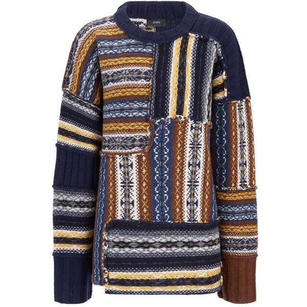 Joseph Fair Isle Oversized Sweater in MULTICOLOR (€375) ❤ liked ...