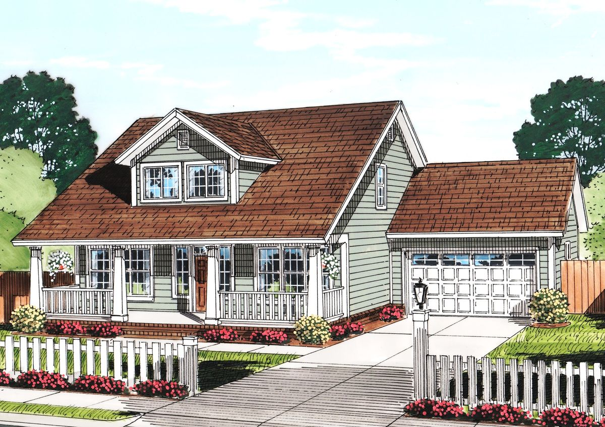 Cozy Cottage With Removable Garage 52222WM