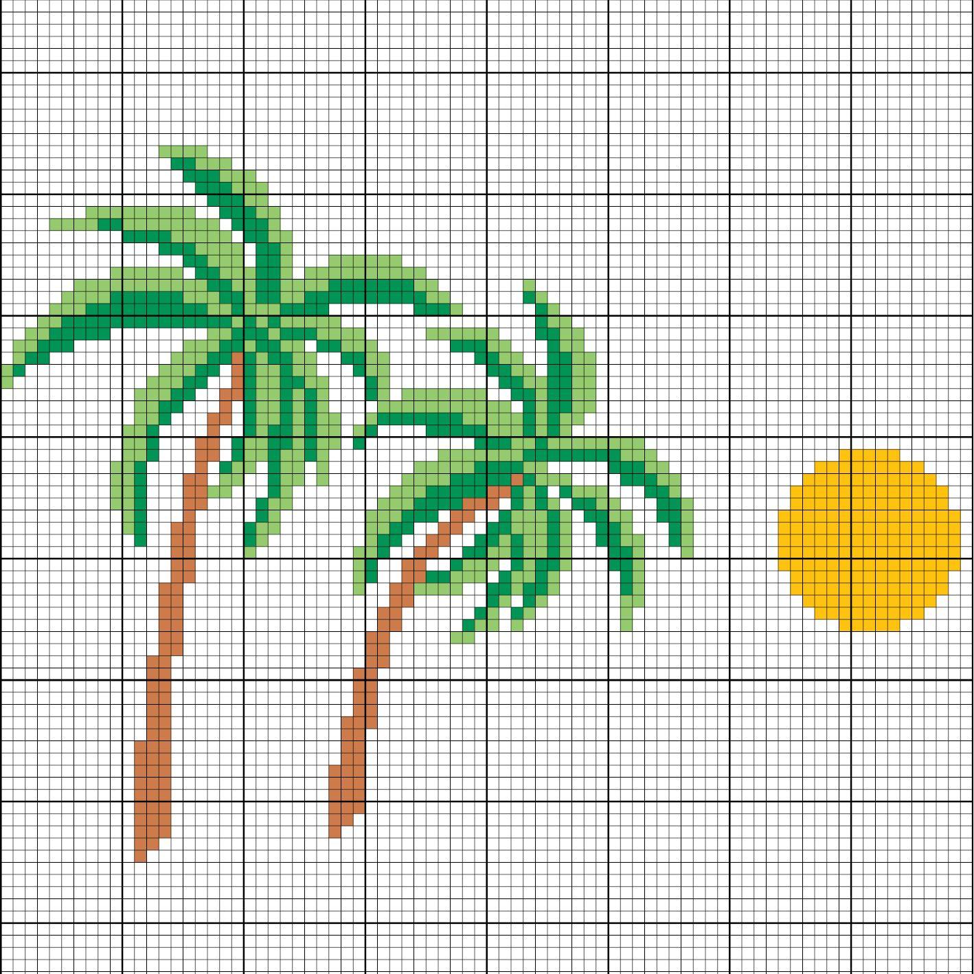 Palmen sticken - Entdecke zahlreiche kostenlose Charts zum Sticken ...