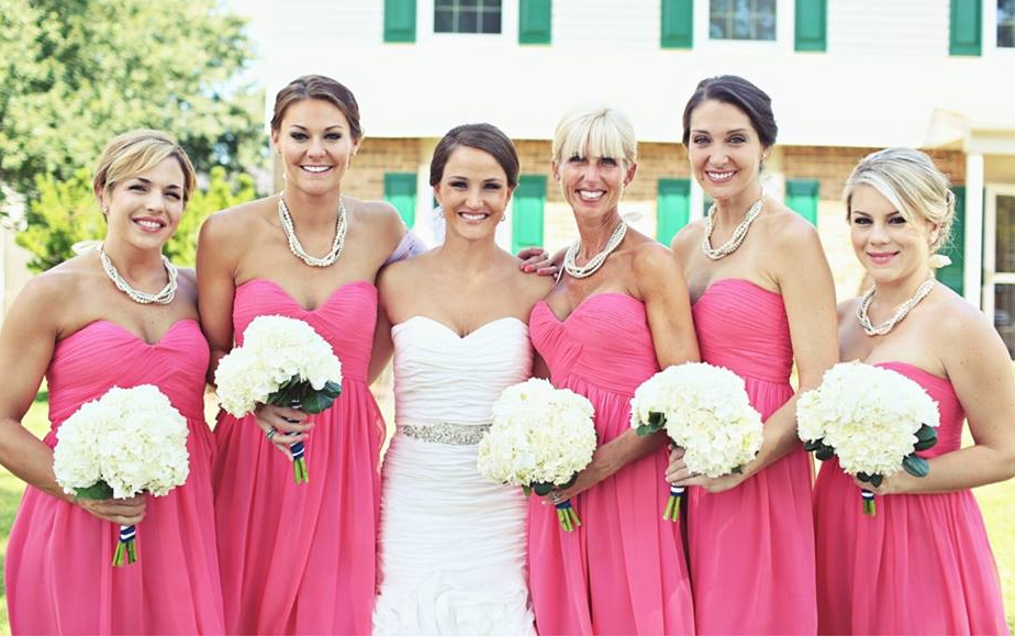 pop of colour! #pink #honeysuckle #bridesmaid | Pink & Peach ...