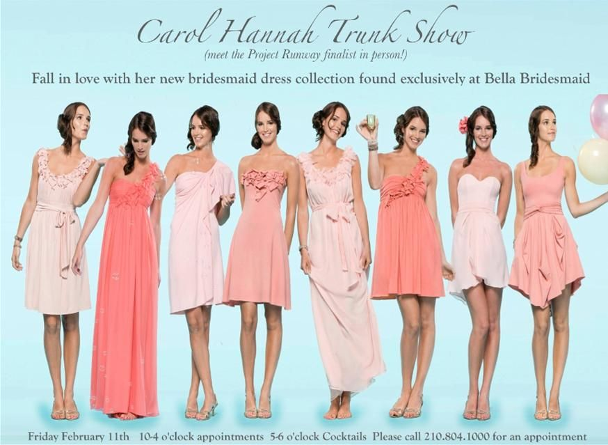 For Bridesmaids - I like the different dresses in coordinating ...