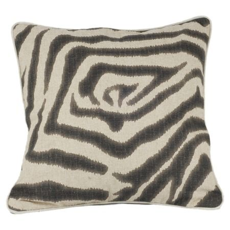 I pinned this Zebra I Pillow in Charcoal from the Signature Pillows event at Joss and Main!