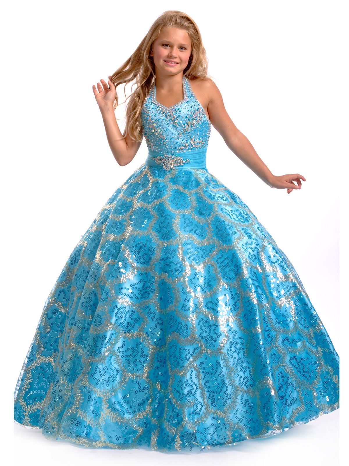 Dazzling pageant dress for girls by Perfect Angels pageant 1418 ...