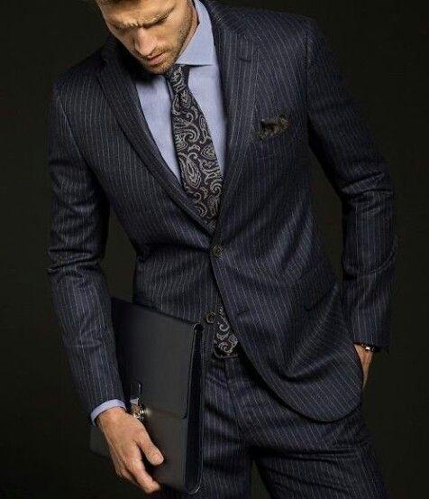 Tie design☆Stripe☆Navy Suit ☆SUIT UP☆