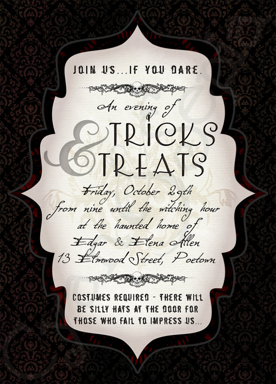 17 Best images about Halloween Invitations – Template for Halloween Party Invitation