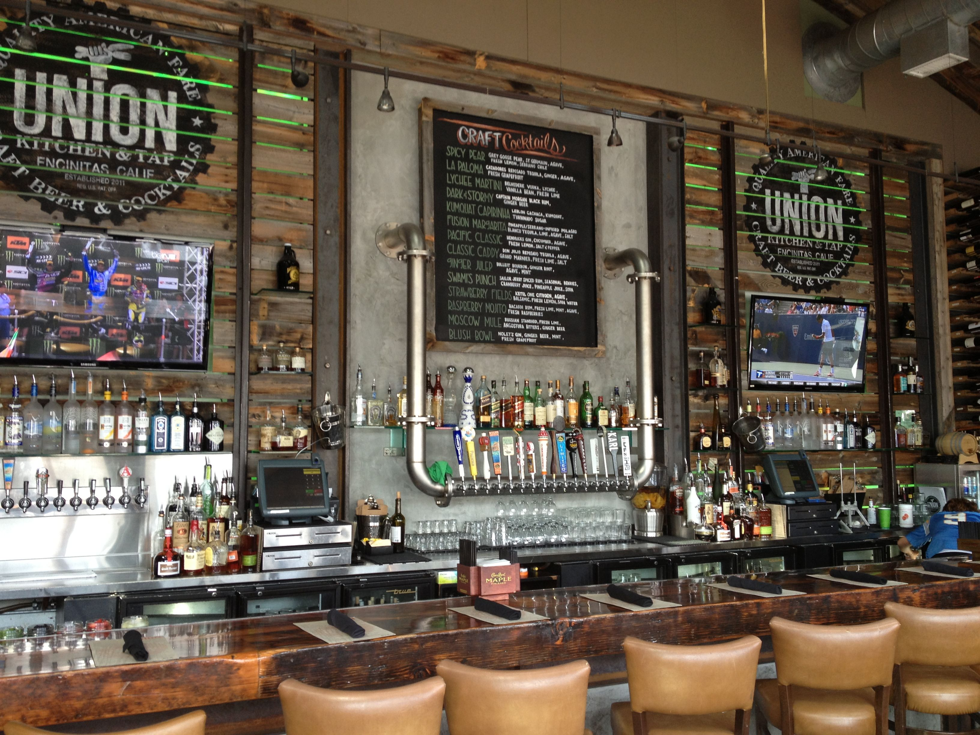 Union bar in encinitas great bar design client Lounge diner decorating ideas
