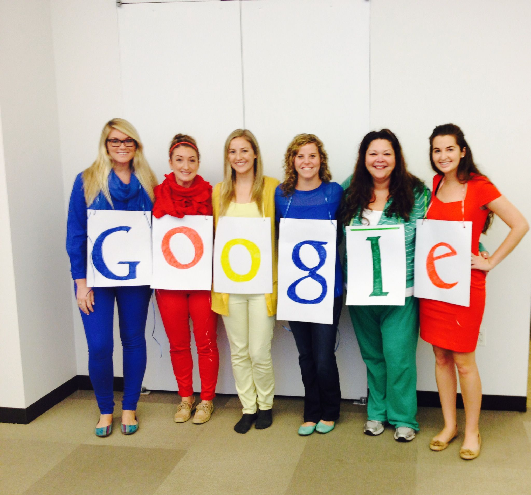 Google Main Office: Our Google Girls! #Google #Work #Costumes #Group Worklife