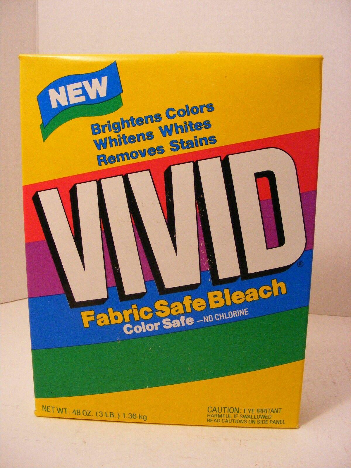 Vivid Powdered Bleach 1990s Retro Packaging Vintage Laundry Vintage Packaging