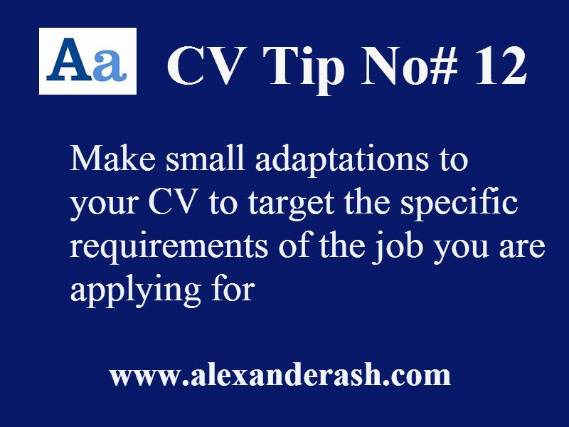 CV Tip number 12 wwwalexanderash CV Tips Tuesday! Pinterest
