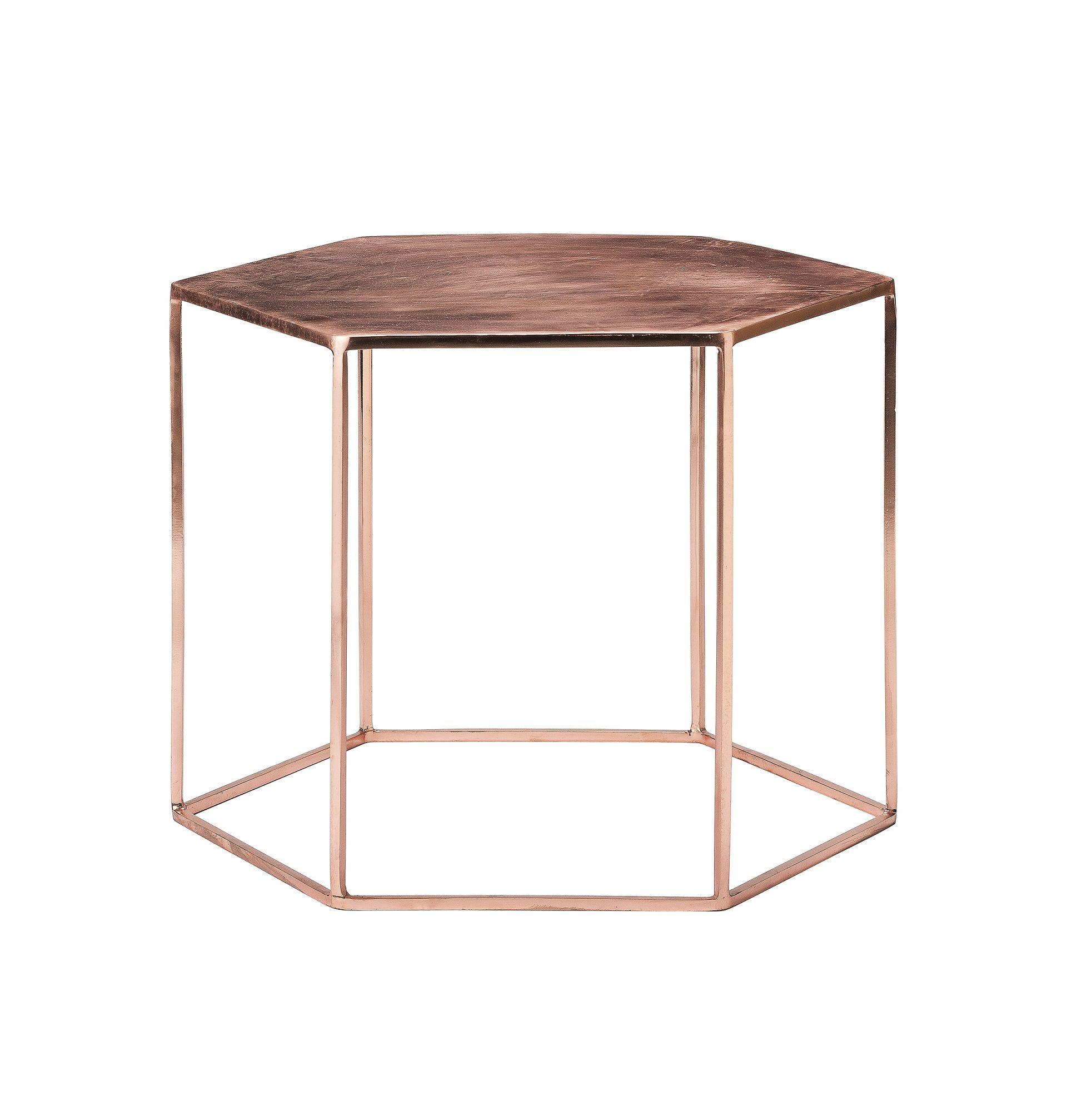 Beistelltisch Couchtisch Metall Kupfer Copper Side Table Coffee