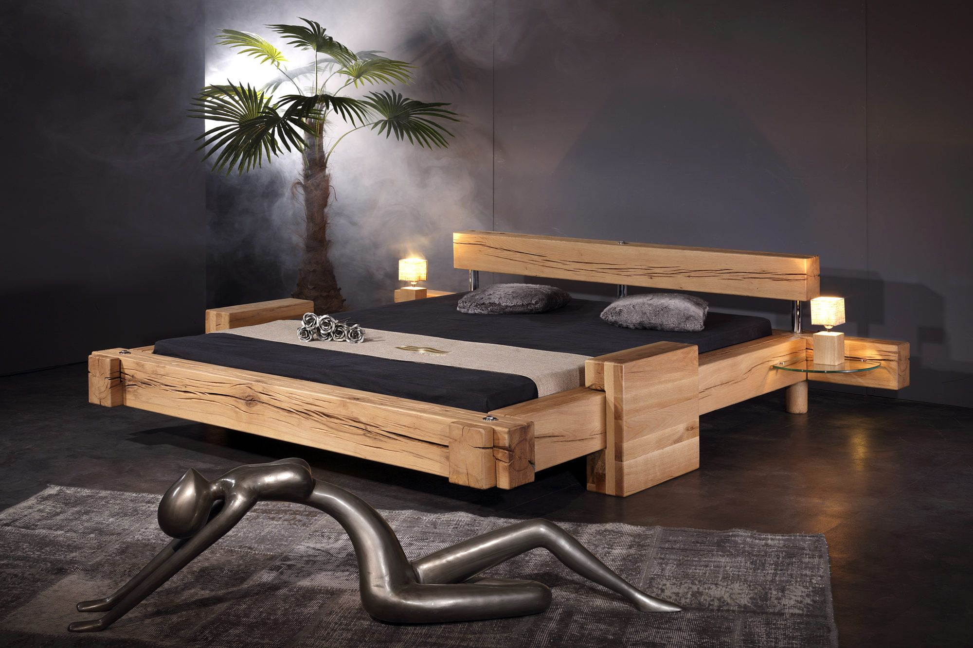 Klotz Bett Sumpfeiche Sprenger Möbel Wohnen Bett Möbel