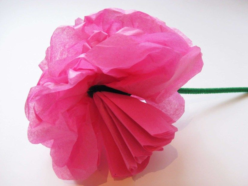 Tissue Paper Craft Simple Steps To Craft Tissue Paper Flowers