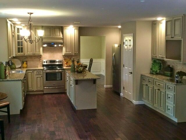 """3/4"""" x 5"""" french gunstock hardwood with our heritage white kitchen"""