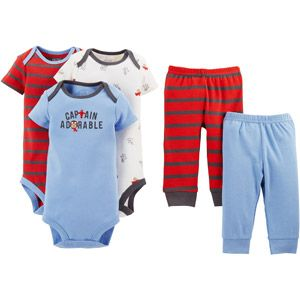 620dc0e908c7 Child of Mine by Carter s Newborn Baby Boy Bodysuit and Pants 5 ...