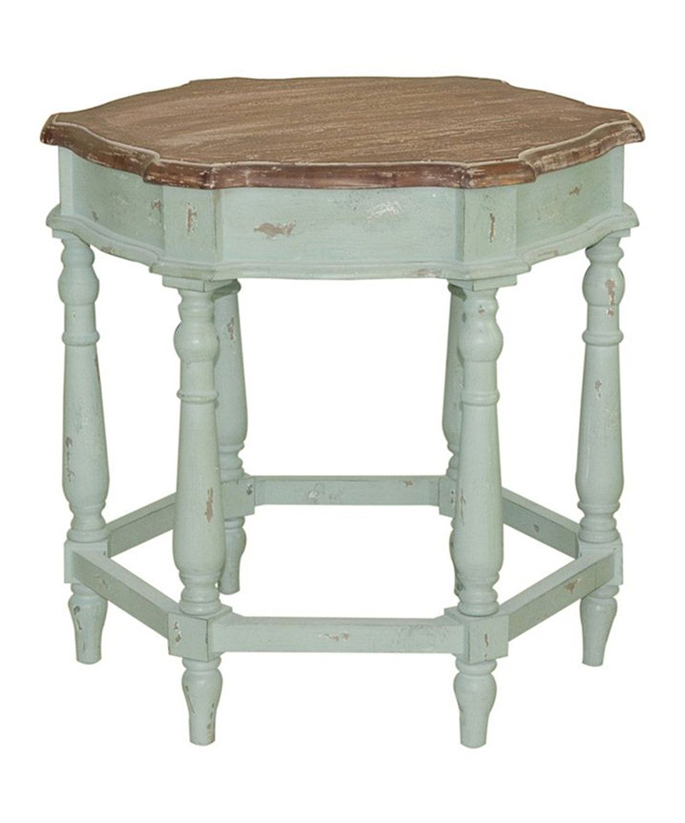 Love this White Wood Accent Table by  on #zulily! #zulilyfinds