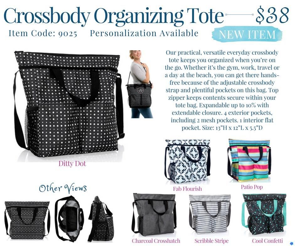Thirty One Crossbody Organizing Tote Springsummer 2018 Thirty One