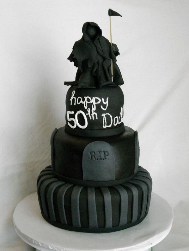 Grim Reaper Cake With Images Cake 60th Birthday Cakes